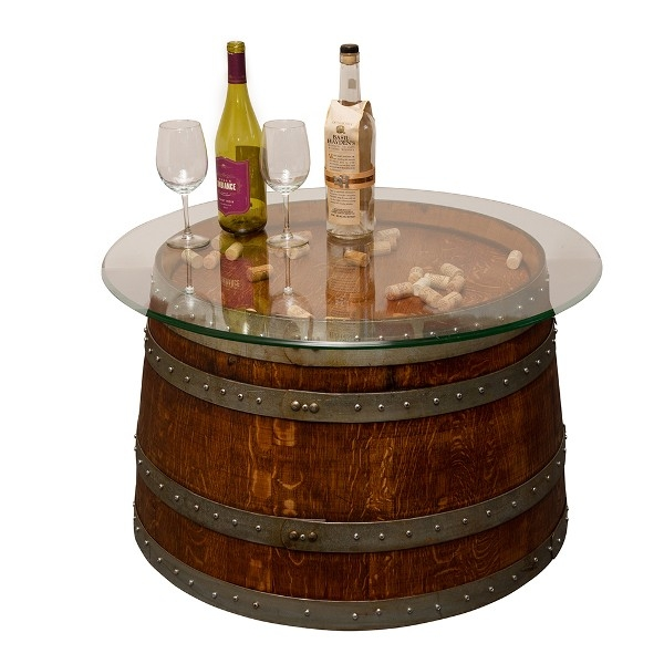 Wine barrel 1 2 size 19 high glass top corks for 1 2 wine barrel table