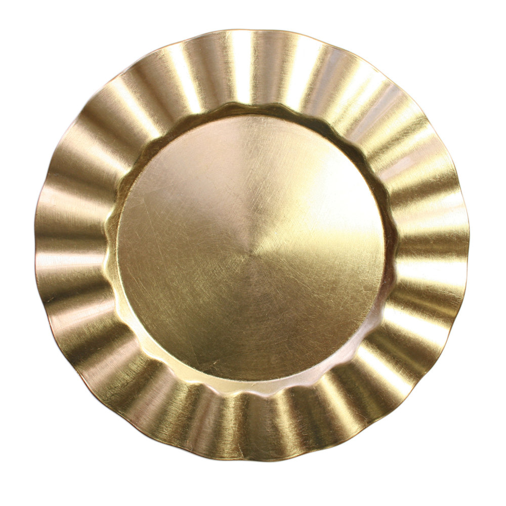 Charger Plate ...  sc 1 st  Rebel Party Rentals & Charger Plate Gold Acrylic Scalloped 13\u2033 \u2013 Rebel Party Rentals
