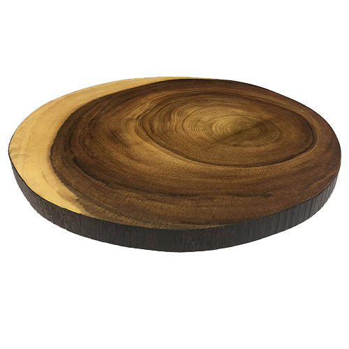 Wood Slice Chargers: Charger Slice Round Wood 13″